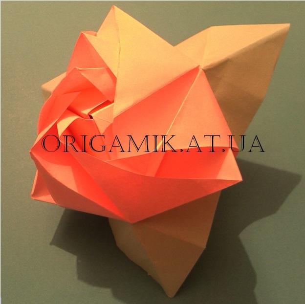 Оригами магический куб роза