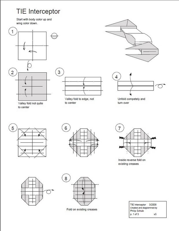 Оригами Tie Interceptor - Star